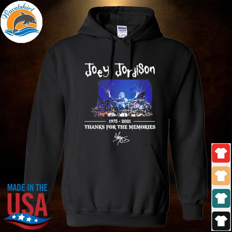 Joey Jordison 1975 2021 thank you for the memories signature s Hoodied