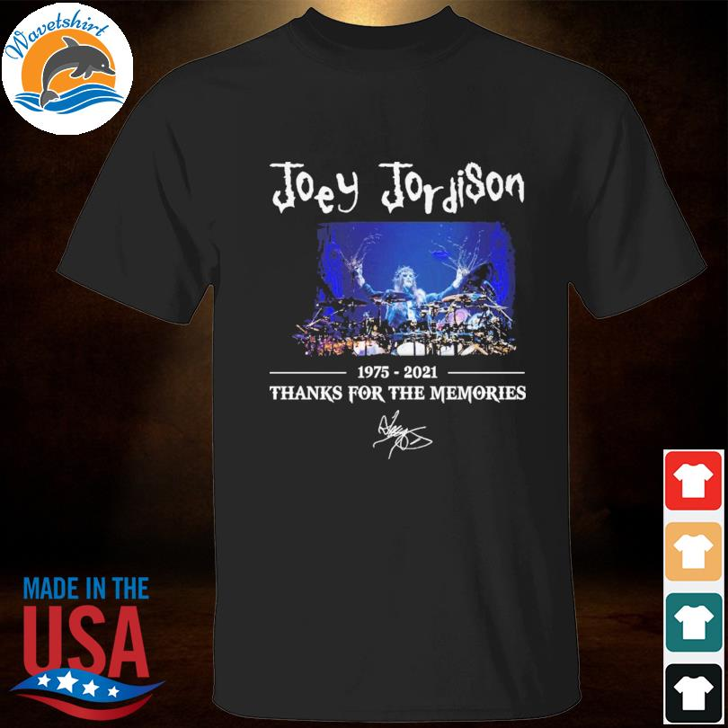 Joey Jordison 1975 2021 thank you for the memories signature shirt