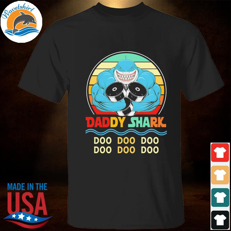 Official Daddy shark doo doo doo vintage shirt