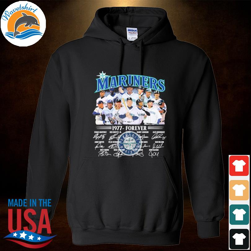 Official Seattle Mariners 1977-forever signatures t-s Hoodied