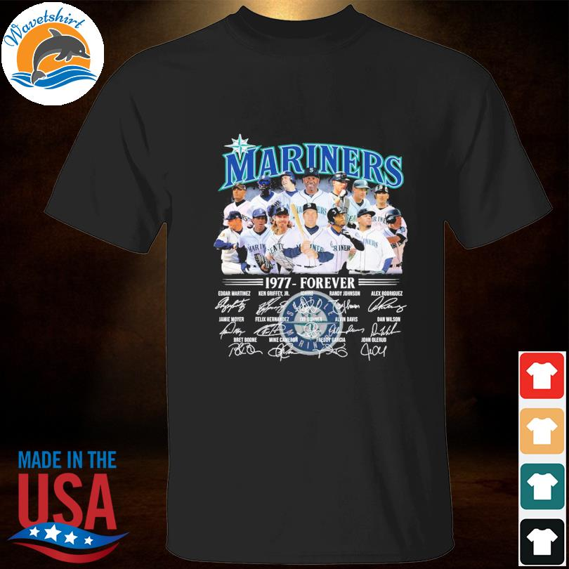 Official Seattle Mariners 1977-forever signatures t-shirt