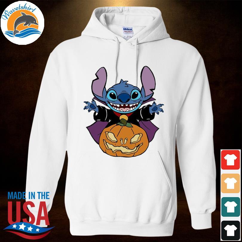 Stitch hug Pumpkin Halloween s Hoodied