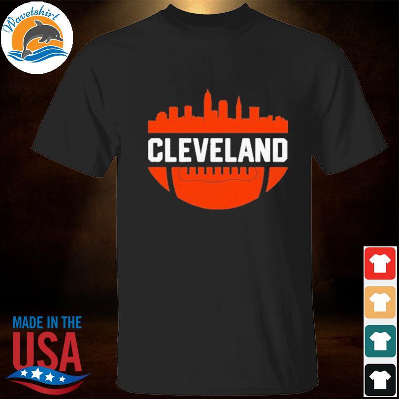 Vintage Downtown Cleveland Ohio Skyline Football Shirt