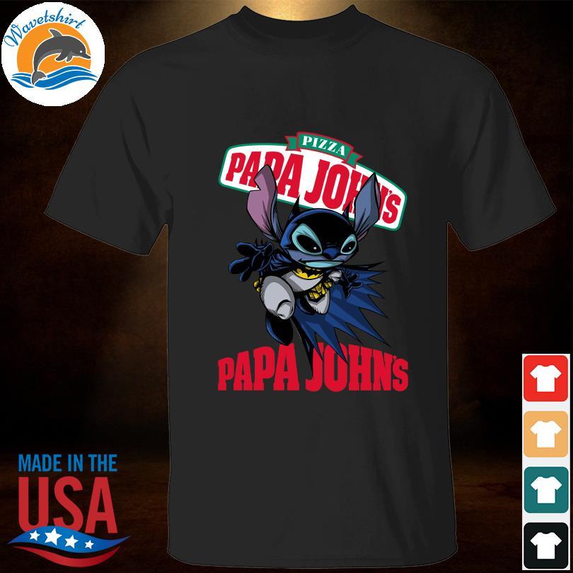 Funny Bat-Stitch Pizza papa Johns papa John's shirt