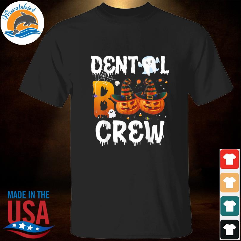 Funny halloween dental boo crew nurse dentist doctor life shirt