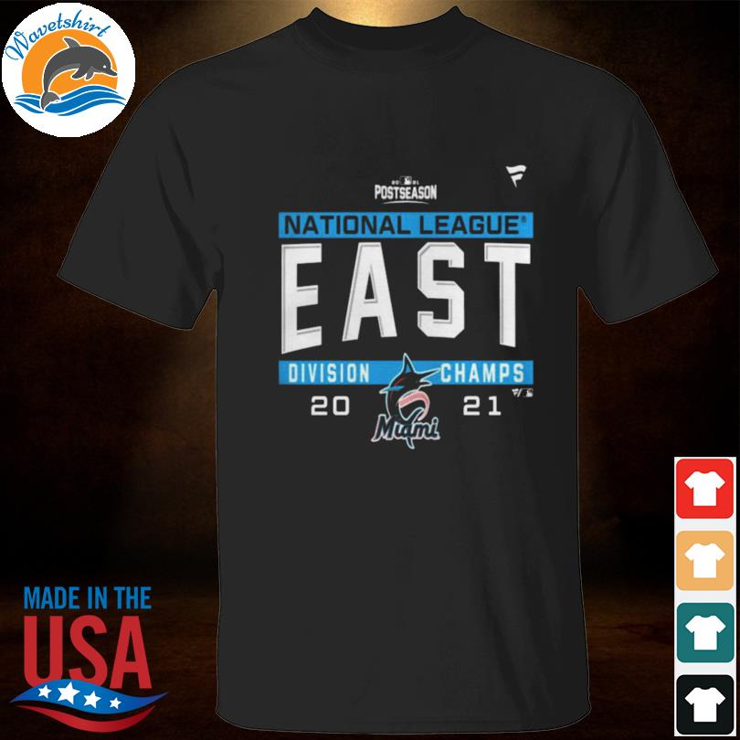 Miami marlins national league nl east division champions 2021 sport shirt